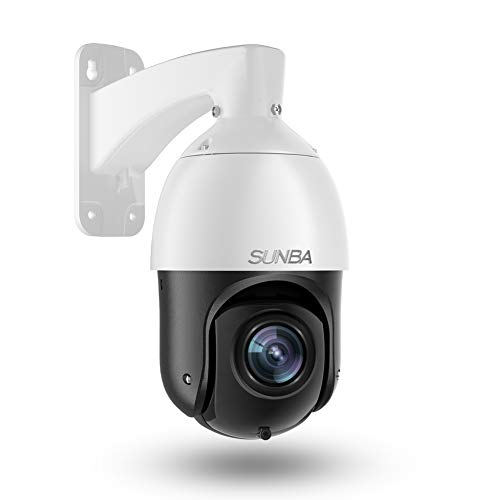 SUNBA 3MP Starlight IP PoE+ Outdoor PTZ Camera, 20x Optical Zoom @H.265,...