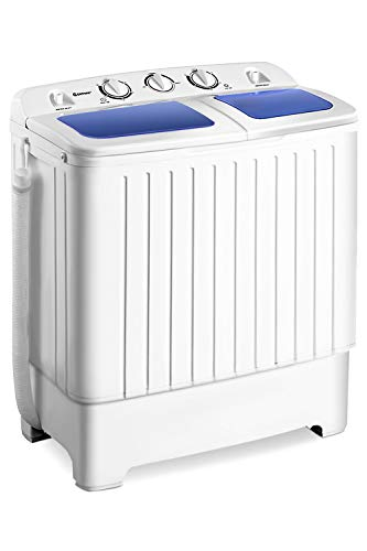 Giantex Portable Mini Compact Twin Tub Washing Machine 17.6lbs Washer Spain...