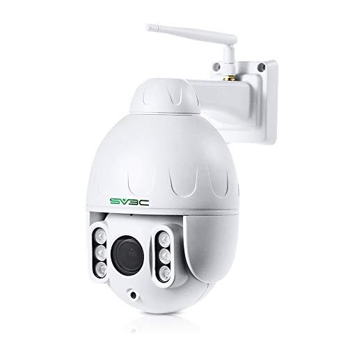 SV3C PTZ WiFi Camera Outdoor, 1080P Wireless Security IP Camera, 5X Optical...