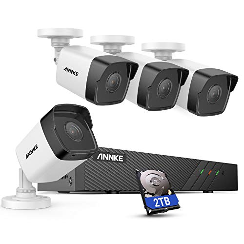 ANNKE H500 8CH Bullet PoE Home Security Camera System with 6MP H.265+ NVR,...