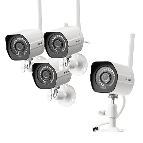 Zmodo Outdoor Security Camera (4 Pack), 1080p Full HD Wireless Cameras for...