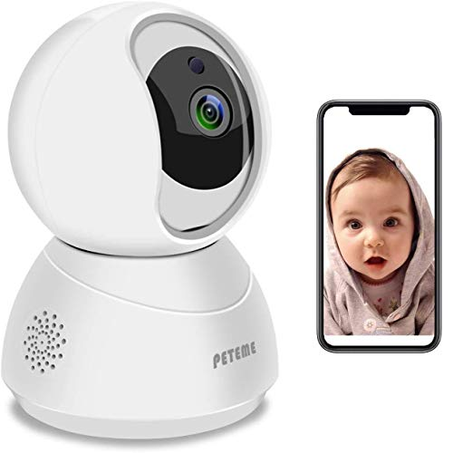 Baby Monitor, Peteme 1080P WiFi Baby Monitor with Camera and Audio 2-Way...