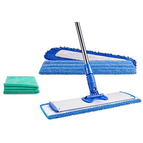 18' Professional Microfiber Mop - Clean with Just Water - Dry & Wet Mop for...