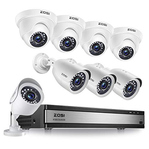 ZOSI H.265+ 1080p 16 Channel Security Camera System, 16 Channel DVR...