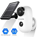 Battery Security Camera Wireless - Solar Powered IP Camera Outdoor 1080P HD...