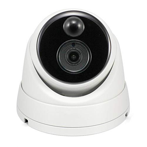 Swann Wired PIR Dome Security Camera, Ultra 4K HD Surveillance Cam with...