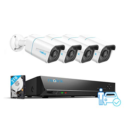 REOLINK Smart 4K PoE Security Camera System, 4pcs Person/Vehicle Detection...