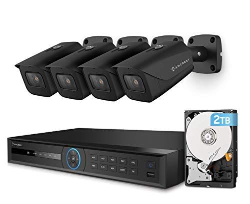 Amcrest 4K Security Camera System w/ 4K 8CH PoE NVR, 4 x 4K (8MP) IP67...