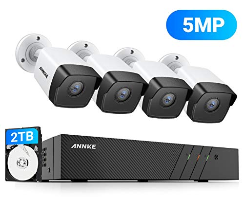 ANNKE 5MP PoE Home Security Camera System 4X ANNKE C500 Wired Outdoor PoE...