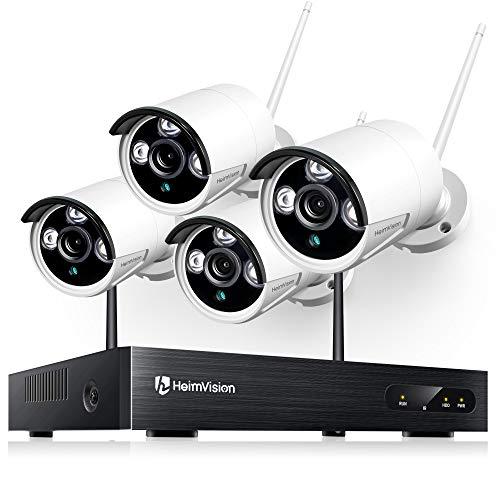 HeimVision HM241 Wireless Security Camera System, 8 Channel NVR 4Pcs 1080P...