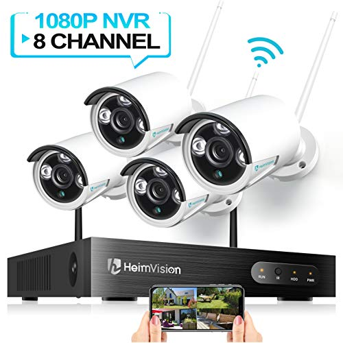 HeimVision HM241 Wireless Security Camera System, 8CH 1080P NVR 4Pcs 960P...