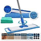 18' Professional Microfiber Mop | Adjustable Stainless Steel Handle | 3...