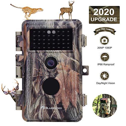 BlazeVideo Game Trail Camera Night Vision 20MP HD 1920x1080P Video Hunters...