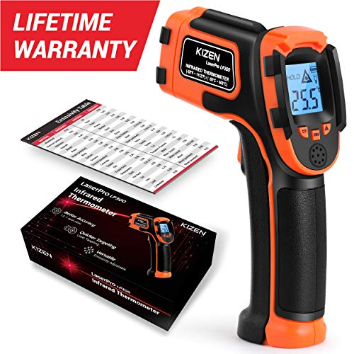 Kizen LaserPro LP300 Infrared Thermometer Non-Contact Digital Laser...