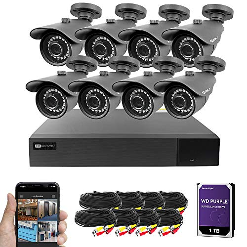 Best Vision 16CH 4-in-1 HD DVR Security Camera System (1TB HDD), 8pcs 2MP...