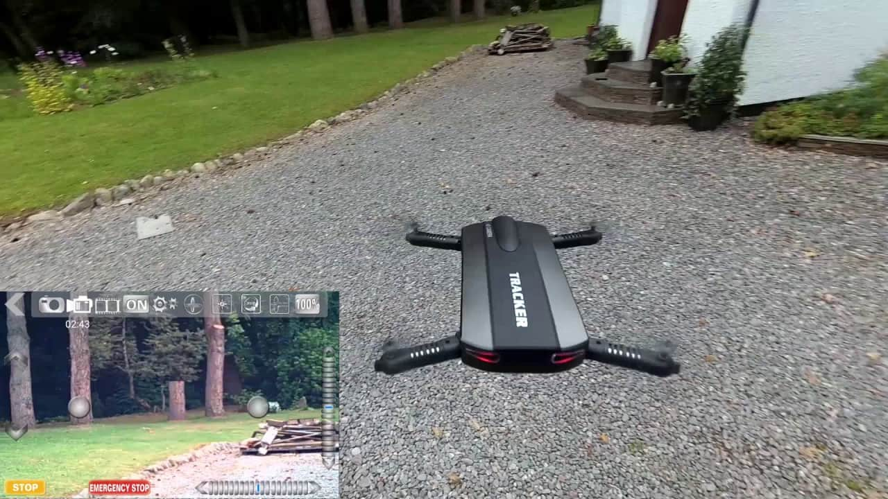 Tracker Folding Selfie Drone Quad
