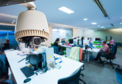 security camera inside the office for small business