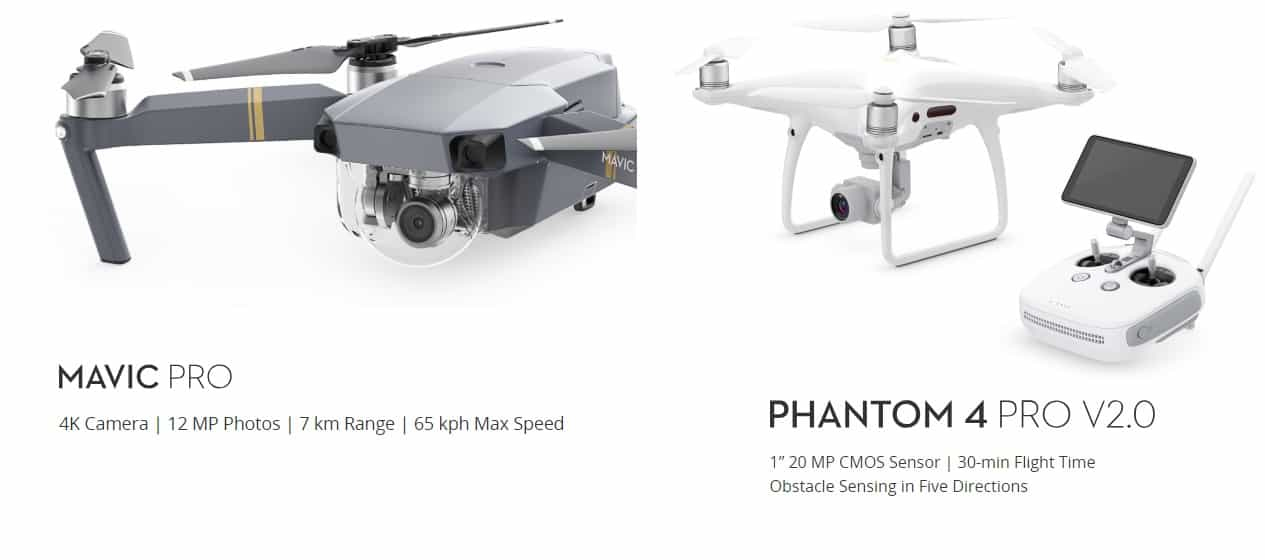 The Difference Between DJI Mavic Pro VS Phantom 4 Pro 2.0 – (2019)