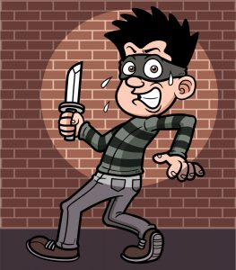 A Burglar Caught From Motion Detector