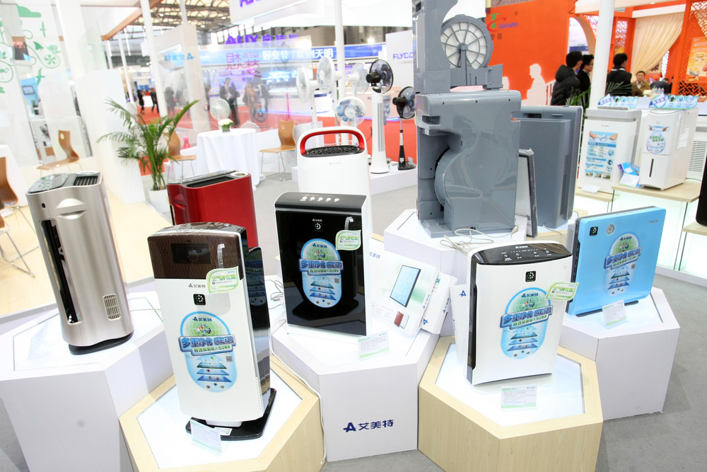 Airmate air purifiers are displayed during the Appliance World Expo