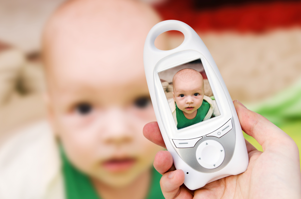Video baby monitor for security of the baby
