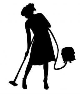 A Illustration Of A Lady Cleaning Using Her Vacuum Cleaner That She Recently Bought