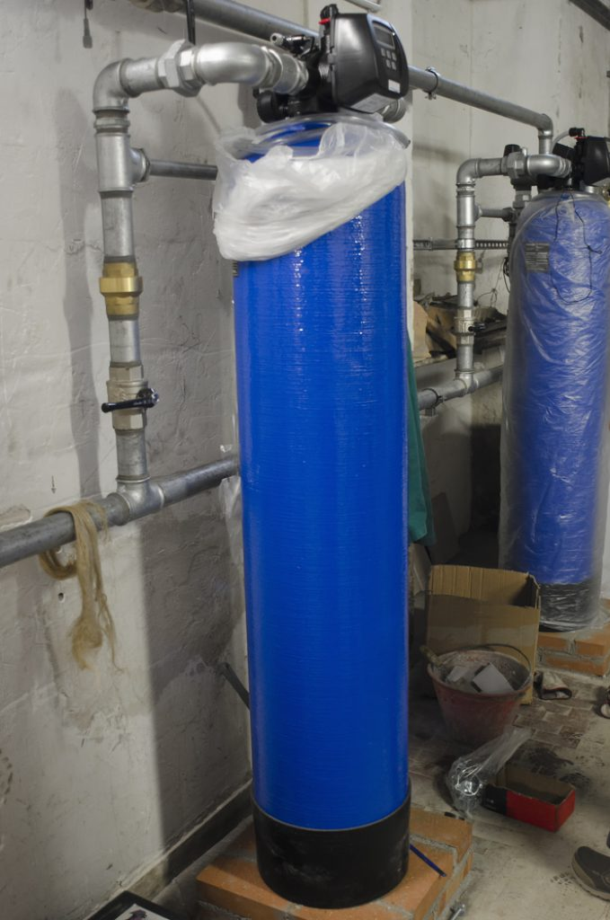 Water softeners in industrial plant
