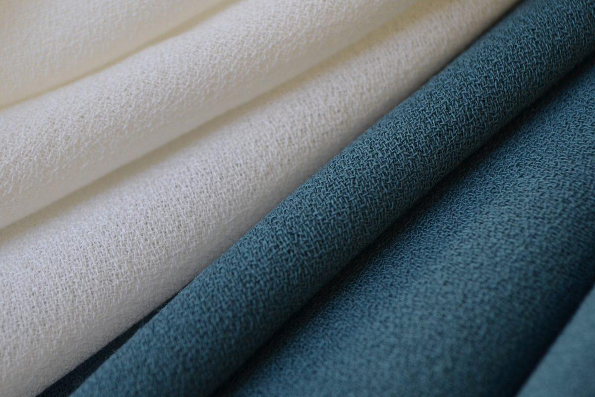 wool pebble crepe fabric dusky